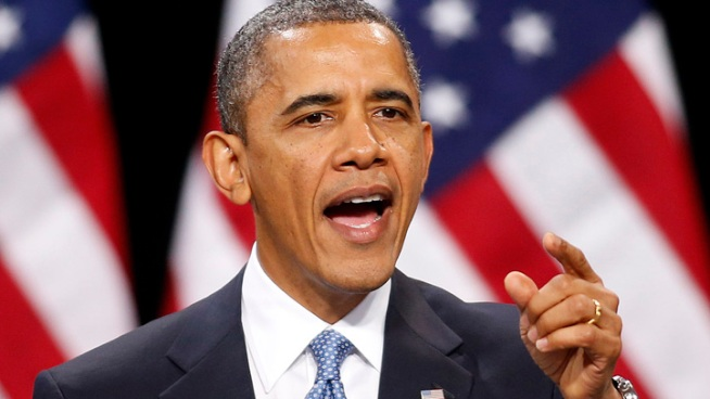 President Obama lays out his second term agenda to Senate Democrats as he tries to push Medicare reform and an assault weapons ban that even some Democrats oppose.