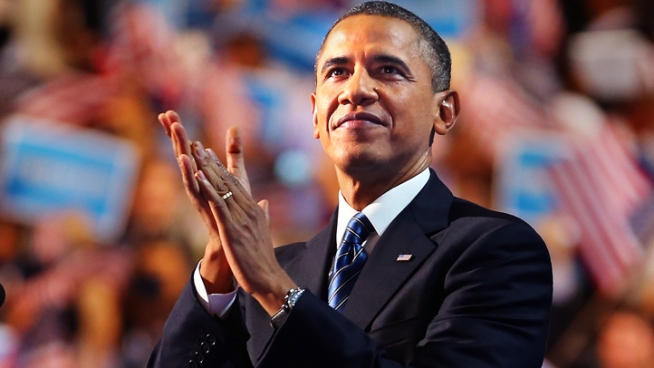 President Barack Obama accepted his party's nomination with a resolute speech at the Democratic National Convention.