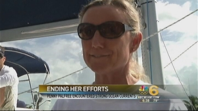 A 49-year-old grandmother and veteran endurance swimmer scuttled her quest early Sunday to become the first woman to swim unaided from Cuba to the Florida Keys, unable to close the gap on the last 26 miles of a more than 100-mile ocean odyssey. Tricky currents forced her to stop.