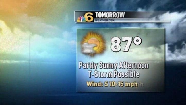 Tuesday will be hot with highs in the upper 80s.  Meteorologist Shiri Spear has the local forecast.