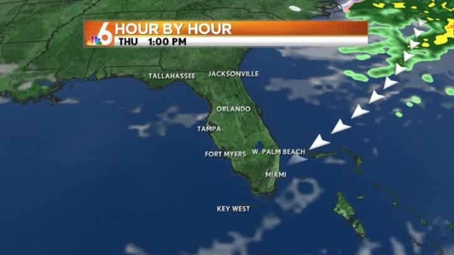 Weak cold front rolls into South Florida this afternoon to