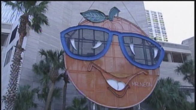 Miami's iconic Big Orange will be getting a new name as part of a three-year Spanish heritage celebration in the Magic City.The famous sign that rises 400 feet up the Intercontinental Hotel every New Year's is being renamed