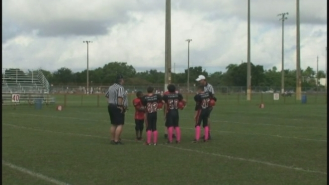 An age mistake with one of its players has the Tamiami Colts banned from the Miami Extreme Youth Football League playoffs. Parents Mely Perez and Aileen Herrera and player Nicholas Watson discuss the ban.