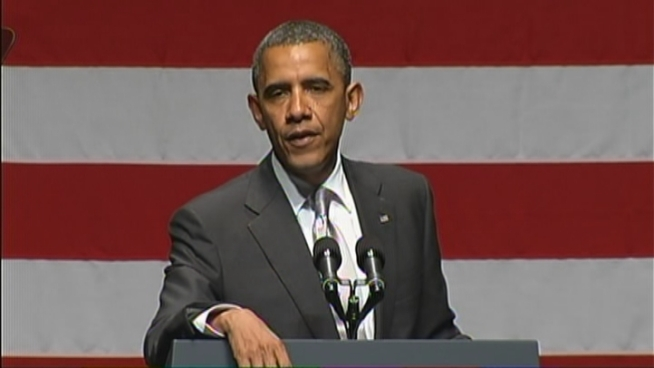 President Barack Obama told a crowd of supporters in Miami Beach that 2012 is going to be a close election, but they can decide whether to keep intact changes he has put in place in healthcare and immigration.