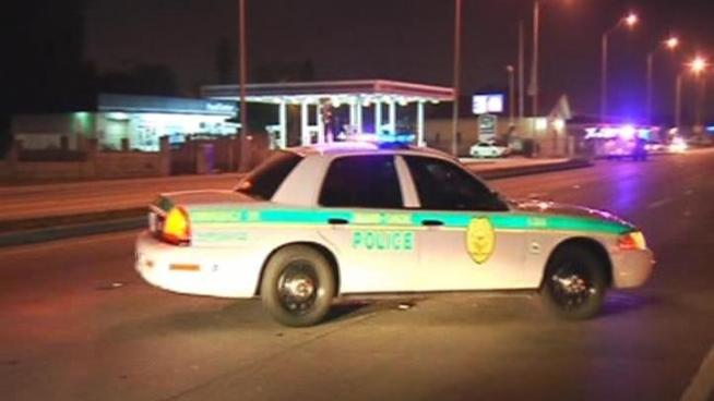 Miami-Dade Police are investigating a Saturday morning shooting at Lady Luck Club.