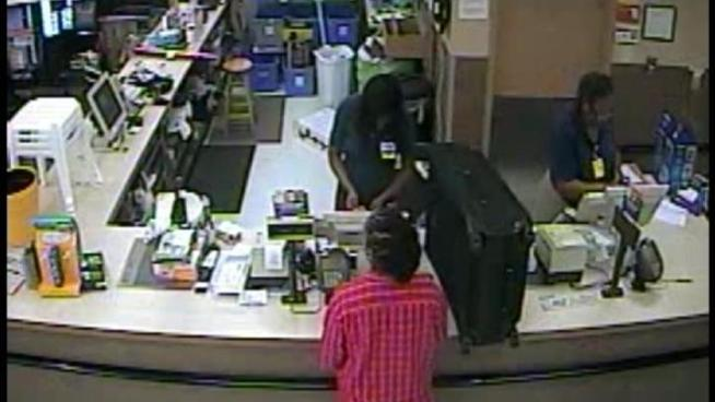 Police are looking for a pair of robbers who struck at a Miramar Walmart.