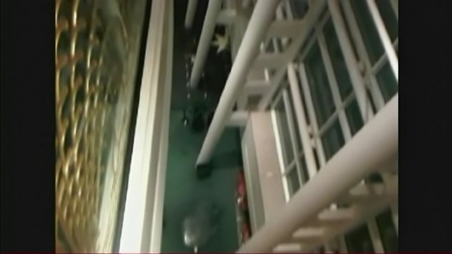 Video from inside Miami's Adrienne Arsht Center shows people evacuated during a showing of