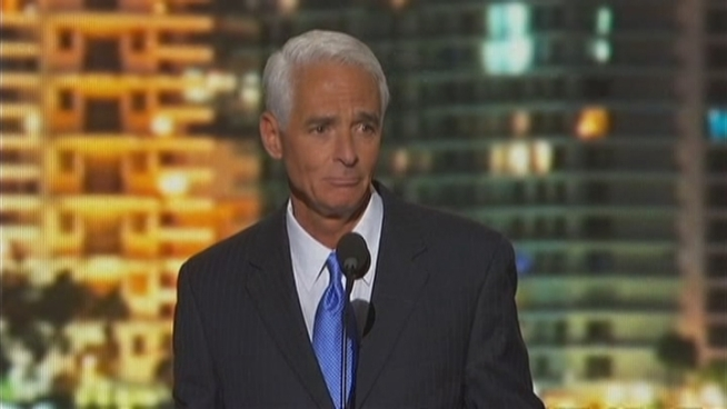 Charlie Crist Speaks at the Democratic National Convention on Thursday.