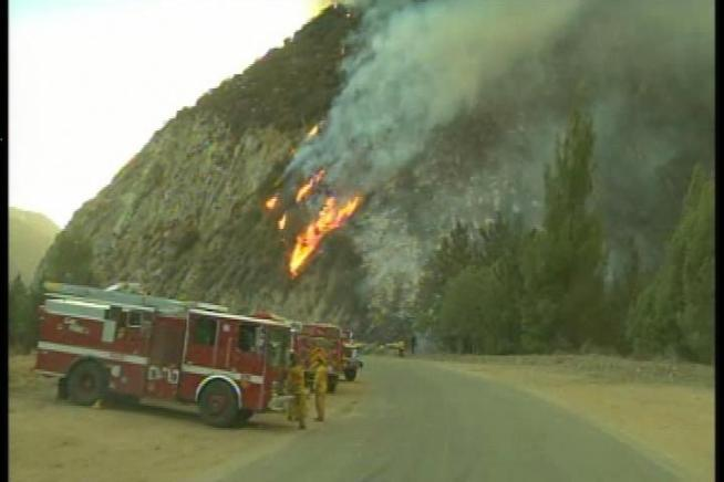 The Williams Fire, north of Azusa, could burn until next Thursday. Robert Kovacik reports for the NBC4 News at 11pm on Monday, September 3, 2012