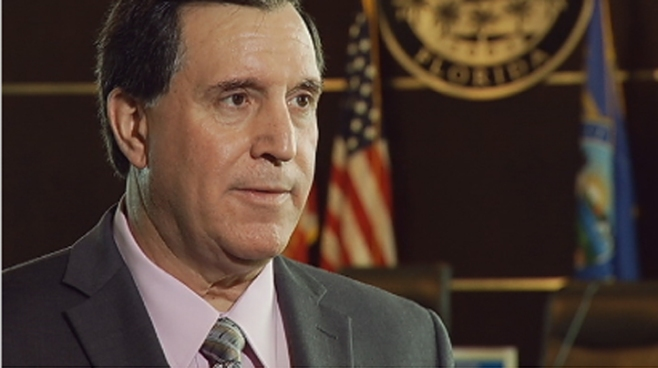 Joe Carollo was a polarizing, controversial figure during his time as Miami's mayor, and he did not mince words when addressing his past critics in an interview Thursday. Merrett Stierheim, who abruptly resigned as Doral's interim manager before Carollo was officially hired for the position, said that a professional manager should stay out of politics, but Carollo is