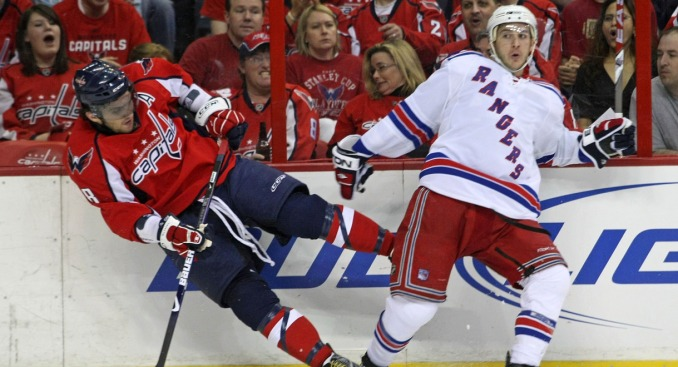 Alex Ovechkin Tries, Fails to Watch Rangers Practice