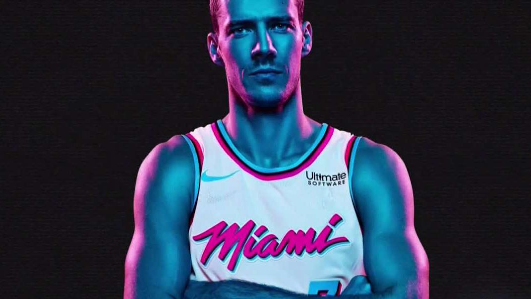 uk availability 3a8f9 f3594 Miami Heat's New 'Vice' Jersey Tributes Retro Magic City ...