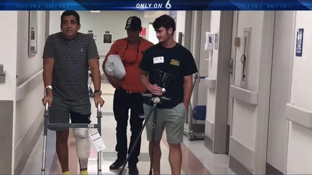 Shark Attack Victim Speaks Out During South Florida Recovery
