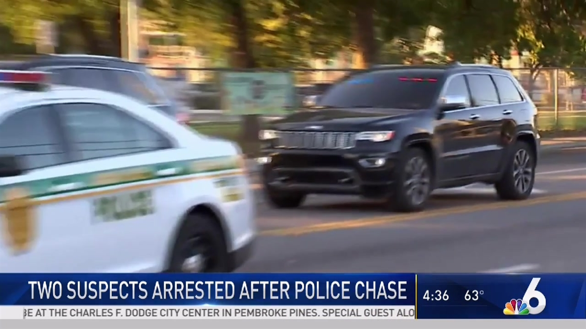 suspects arrested after carjacking, chase in miami-dade - nbc 6