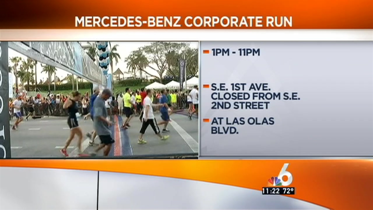 have a detour for the mercedes benz corporate run nbc6 traffic. Cars Review. Best American Auto & Cars Review