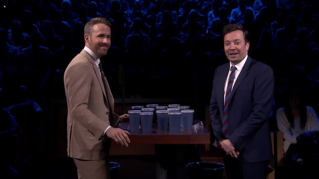 'Tonight': Spit Take Roulette With Ryan Reynolds